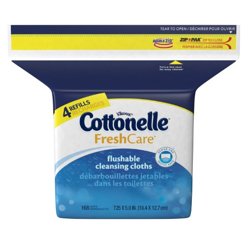 FreshCare Flushable Cleansing Cloths Refill, 168 sheets by: Cottonelle