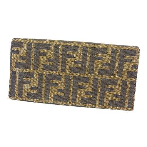 [フェンディ] FENDI 長財布 ファスナー 二つ折り レディース ズッカ 中古 Y3389 B07952PLL4