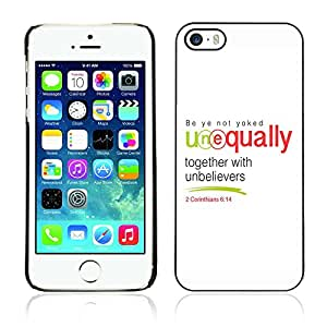 Planetar® ( Bible Verse-CORINTHIANS 6:14 TOGETHER WITH UNBELIEVERS ) iPhone 5 / iPhone 5S Fundas Cover Cubre Hard Case Cover