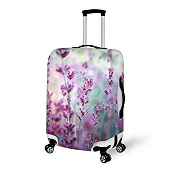 f340093367b6 Travel Luggage Suitcase Cover Luggage Case - Lavender, High Elasticity  Waterproof Baggage Case Zipper Protective Cover, Fits 18-28 Inch Luggage