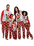 Rudolph the Red Nosed Reindeer Christmas Holiday Family Sleepwear Pajamas Dad Mom Kid Baby (8, Kid Rudolph)