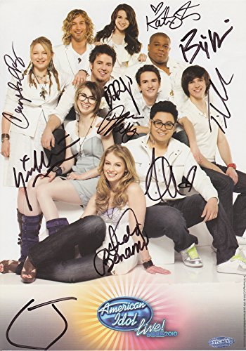 american-idol-tv-show-top-10-winners-2010-live-tour-signed-steiner-promo-photo