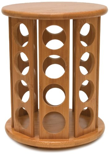 Lipper International Bamboo 32-Pod Coffee Revolving Organizer