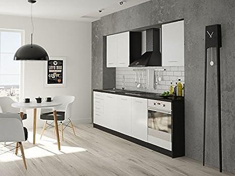 Armadio Nero Opaco : Labi furniture wera da cucina 2 pensili con ripiani interni e 4
