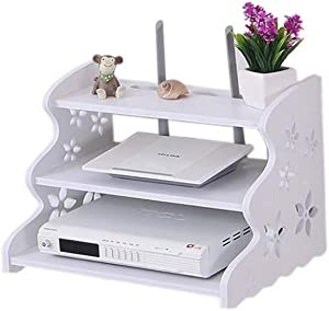 HAI+ Three-Layer White Floating Shelves Wall-Mounted WiFi Router TV Box Set-top Box Streaming Media Equipment