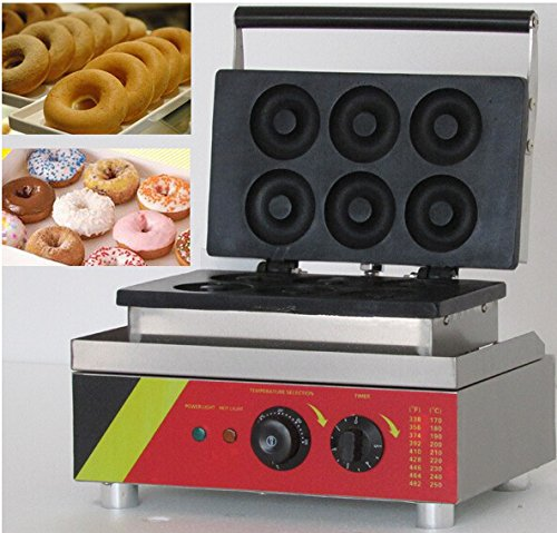 Boshi Electronic Instrument NP-4 110V/220V 6 pcs/time Stainless Steel Small Donut Making Machine Donuts Bake by Boshi Electronic Instrument (Image #2)