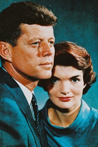John F. Kennedy Jackie Jacqueline Onassis 11x17 Mini Color Photo Poster ()