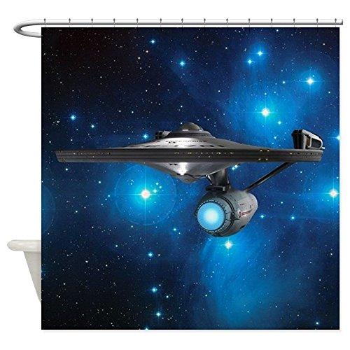 nuohaoshangmao STARTREK 1701A PLEIADES - Decorative Fabric Shower Curtain (Star Trek Curtain)