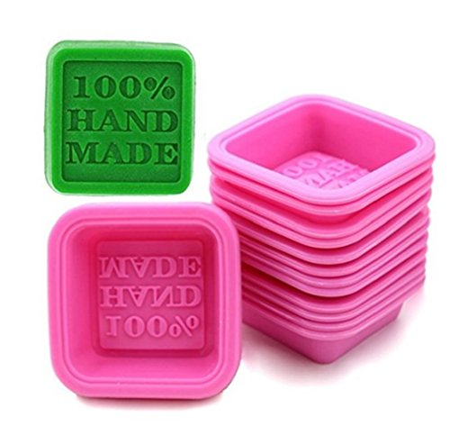 Sharlity 20 Pcs Hand Made Soap Mold Silicone Mould for Cake Candy Chocolate Backing Soap Molds
