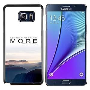 Queen Pattern - FOR Samsung Note 5 N9200 N920 - more nature sunset fog grey mountains - Cubierta del caso de impacto con el patr???¡¯???€????€???&Acir