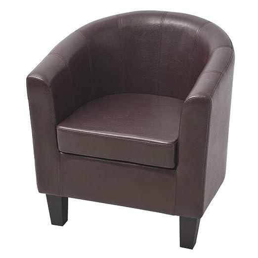Xinglieu sillón de Piel sintética Marrón sillón de Relax ...