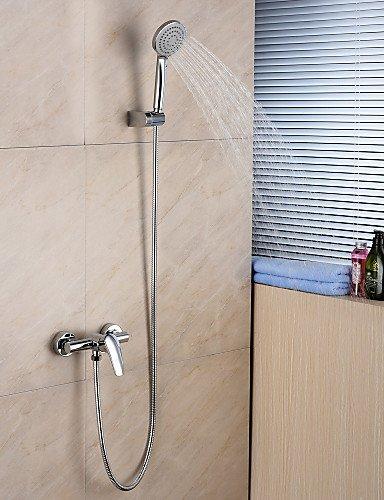 XY&XH Bathtub faucet , Bathtub Faucet-Contemporary-Handshower Included-Brass(Chrome) , 58 x 8 cm Brass Contemporary Handshower