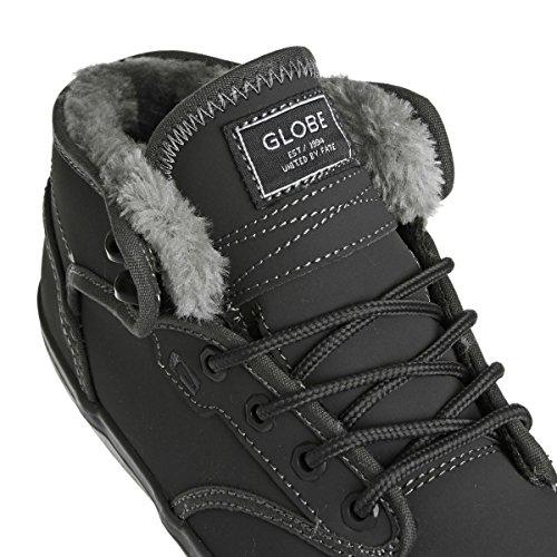 Globe Men's Motley Mid Skateboarding Shoe, Black/Tobacco Gum, 10 M US Charcoal Grey Fur
