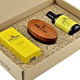 Seven Potions Beard Grooming Set. Beard Oil, Beard Shampoo and Beard Brush Make For the Ultimate Beard Care Kit and Great As A Beard Gift Set