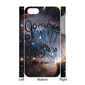 Beautiful Quotes Sunflower Hard Plastic Phone Case for iphone 4 Shell Phone ZDSVEN(TM)