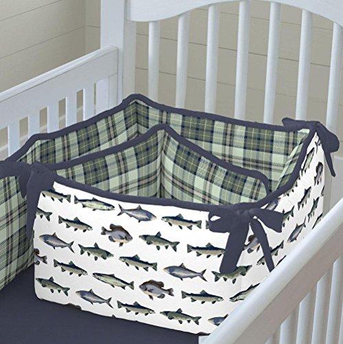 Carousel Designs Gone Fishing Crib Bumper - Fishing Crib