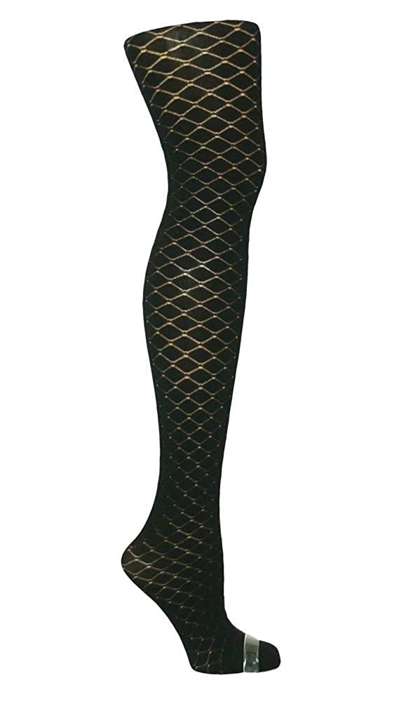 1 Pair womens black diamond pattern tights 80 Denier Plus size XL-XXL 18-22 R16