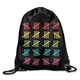 img - for 100 Days Tally Marks Cool Drawstring Backpack String Bag book / textbook / text book
