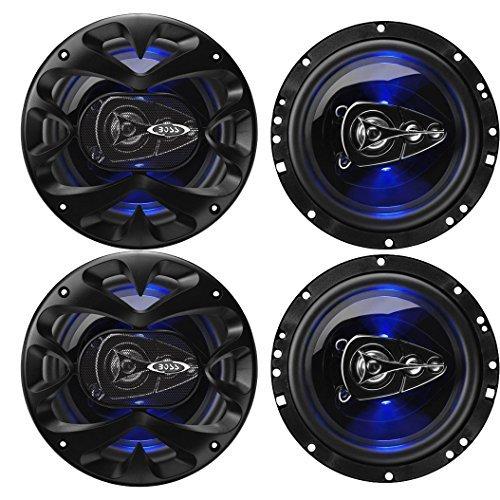 Boss BE654 Rage 6.5-Inch 4-Way 300W Full Range Speakers (4 Pack)