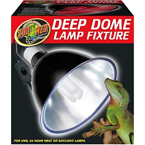 Zoo Med Deep Dome Lamp Fixture, Black