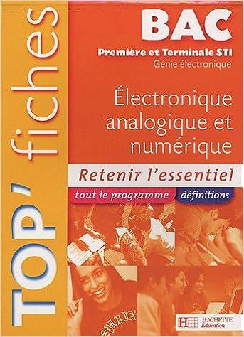Pda Livre Telecharger Top Fiches Electronique Analogique Et