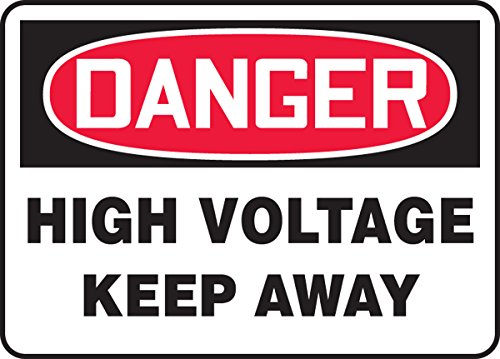 (Accuform MELC040VP Sign with Legend Danger HIGH Voltage Keep Away, 0.055