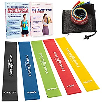 Amazon sport2people exercise resistance loop bands for booty compare with similar items fandeluxe Image collections