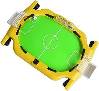 MJ-Games Mesa de fútbol para niños/Mesa Plegable de futbolín, Deluxe Mini, fútbol de sobremesa, Familia de futbolín, Juego Divertido, Adecuado para Personas Mayores de Tres años, Amarillo: Amazon.es: Hogar
