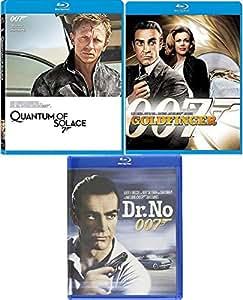 No Agent Spies 3 Bonds 007 James Collection Blu Ray Goldfinger Sean Connery + Quantum Solace Daniel Craig / Dr. No 3 film Action Movie Set