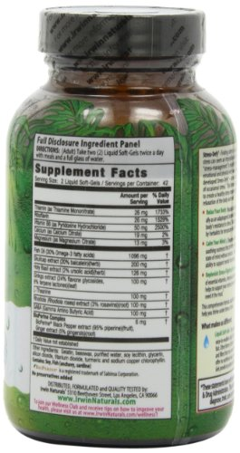 Irwin Naturals Stress-Defy, Balanced Relaxed Calm, Stressful Day Neutralizer, 84 Liquid Softgels by Irwin Naturals (Image #4)'