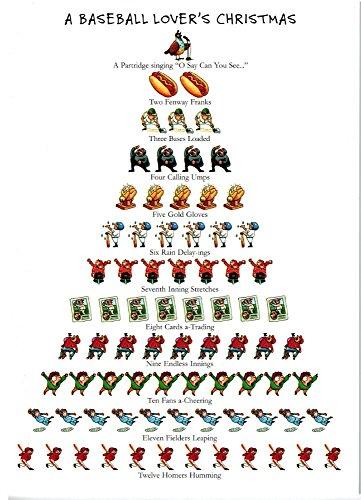 amazoncom a baseball lovers christmas 12 days of christmas boxed holiday cards health personal care - Baseball Christmas