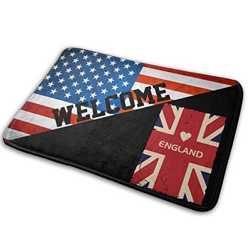 England Flag GB UK Great Britain Car Anti-skidding Doormat For Garage Patio High Traffic Areas Shoe Rugs Carpet (Patios Uk Outdoor Rugs)
