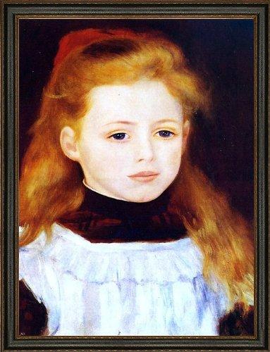 Pierre Auguste Renoir Little Girl in a White Apron (Also Known as Portrait of Lucie Berard) - 21.05