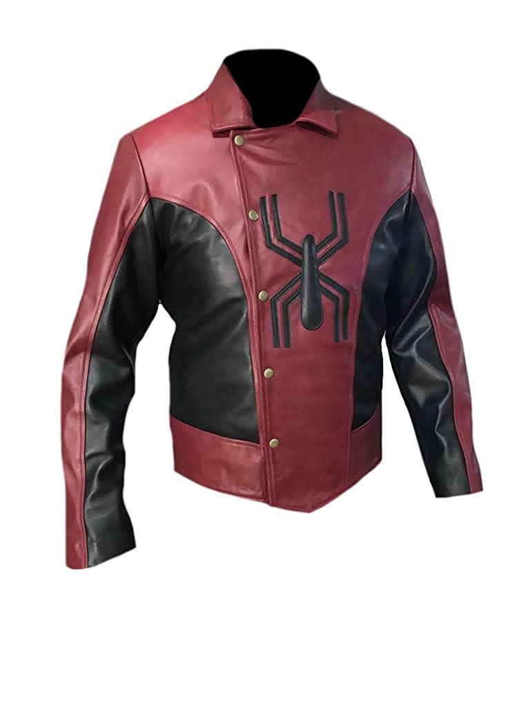 Classyak Men's Fashion Spiderman Leather Jacket