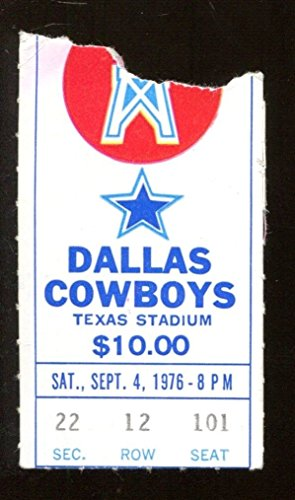 1976 Houston Oilers v Dallas Cowboys Ticket 9/4 Texas Stadium 41018