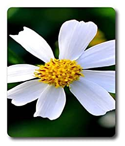 leather mouse pad Beautiful White Flowerss PC Custom Mouse Pads / Mouse Mats Case Cover