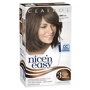 Amazon.com : Clairol Nice n Easy Hair Color 115, 6N Natural Lighter Brown 1 KitPack of 3