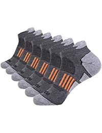 Men's 6 Pack Athletic No Show Performance Comfort Cushioned Low Cut Running Tab Socks