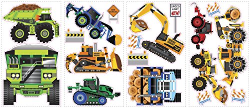 RoomMates-SPD0003SCS-Construction-Vehicles-Peel-and-Stick-Wall-Decals-18-Count-1-Pack