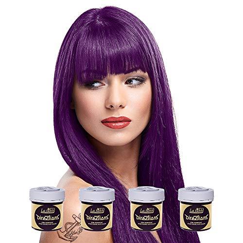 La Riche Directions Semi-Permanent Hair Colour Dye Intense x4 Pack - Plum (Best Plum Hair Dye Uk)