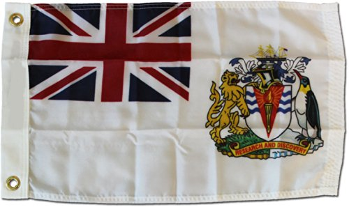 "British Antarctic Territory - 12"" x 18"" Nylon World Flag"