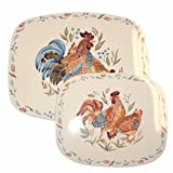 Corelle Coordinates Counter Mats, Set of 2, Country Morning