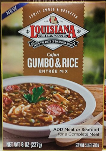 Louisiana Cajun Gumbo & Rice Entree Mix 8 oz (Pack of 3)