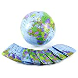 (US) 10x Inflatable World Earth Globe Atlas Map Beach Ball Geography Education Toy