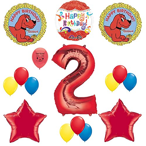 Clifford The Big Red Dog Birthday Party - Clifford the Big Red Dog Party Supplies 2nd Birthday Party Balloon Decoration Kit