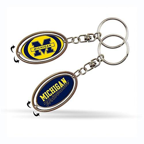 NCAA Michigan Wolverines Spinner Keychain