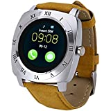 SYL PLUS Estar Smart Watch With Camera And Sim Card Support Compatible For All 3G & 4G Android/Ios Smartphones (Silver)