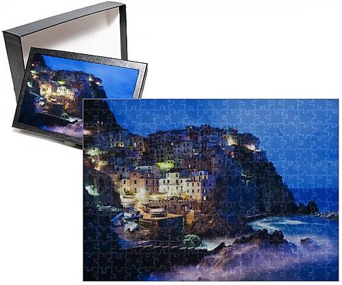 Photo Jigsaw Puzzle of Clifftop village of Manarola, Cinque Terre, UNESCO World Heritage Site - Clifftop Village