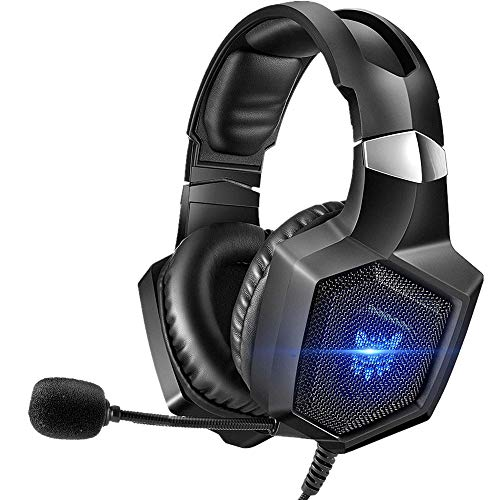 ONIKUMA Gaming Headset Stereo PS4 Headset with Flexible 360°Mic Surround Sound Over-Ear...