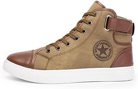 99db9f5073191 Amazon.com: Men Women Causal Shoes - Lace-Up Ankle Boots - Casual High Top  Canvas Shoes,SUNSEE 2019: Home & Kitchen